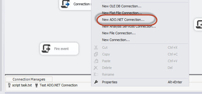 creating a new Ado connection