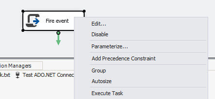 execute Fire Event ssis