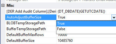 Improving data flow performance with SSIS AutoAdjustBufferSize property