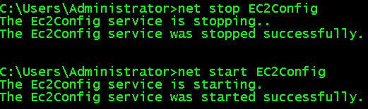 Restarting the EC2Config Service from Command Line