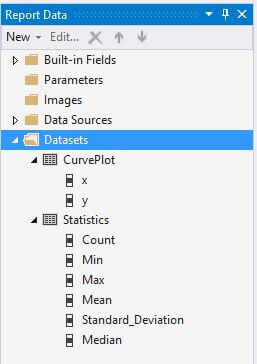 Report Data window after adding the second dataset
