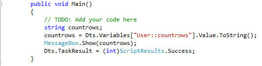 The following code converts the value of the variable to string and then it shows the value.