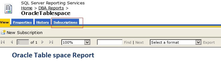 SQL Server Reporting Services Subscriptions