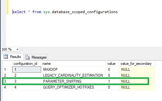 Query the SQL Server DMV sys.database_scoped_configurations