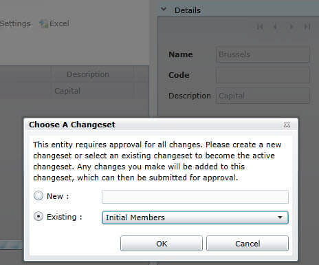 Add change to change set in SQL Server Master Data Services