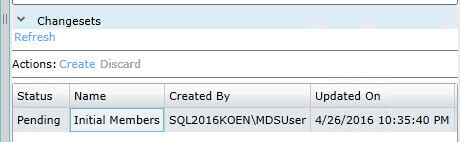 Submit change set in SQL Server Master Data Services