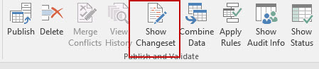 Show Changeset for SQL Server 2016 Master Data Services in Excel