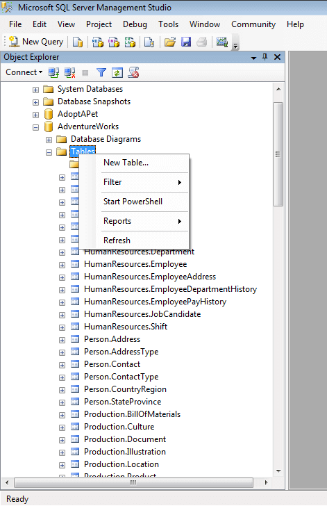 Searching for database objects using SQL Server Management Studio