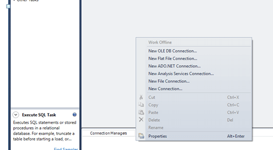 SQL Server Integration Services Connection Objects