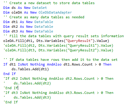 Send Multiple Query Result Sets in HTML Tabular Format in a Single