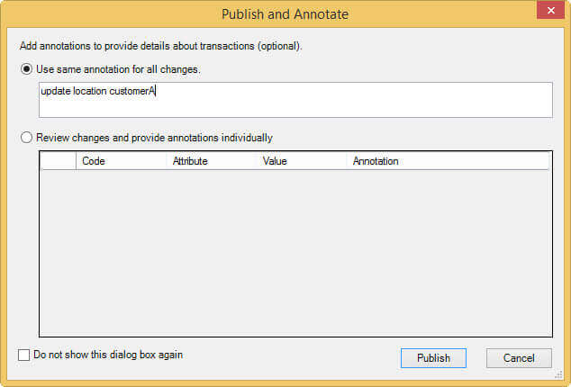 Publish the change in SQL Server Master Data Services