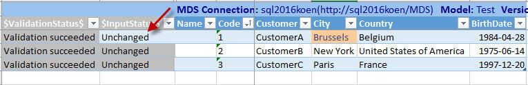 Conflict merged in Excel Add-in for SQL Server Master Data Services
