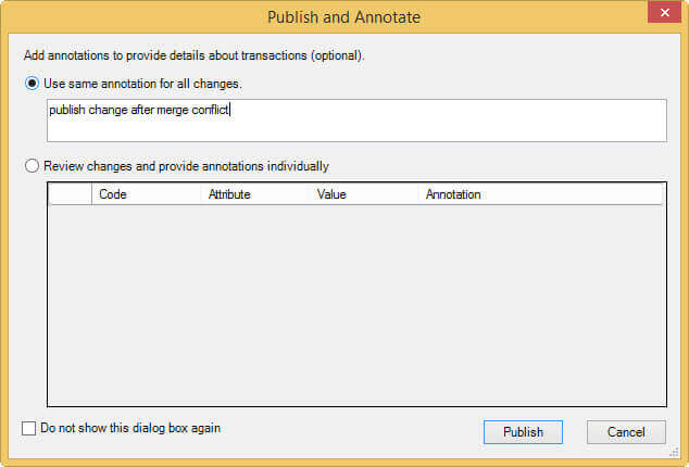 Publish changes again in SQL Server Master Data Services