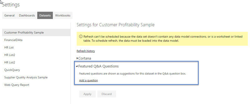 Save Featured Q&A Questions in Power BI