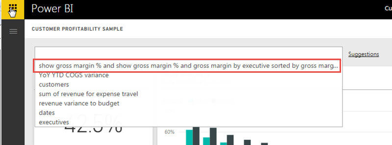 Featured Question Displayed in Power BI
