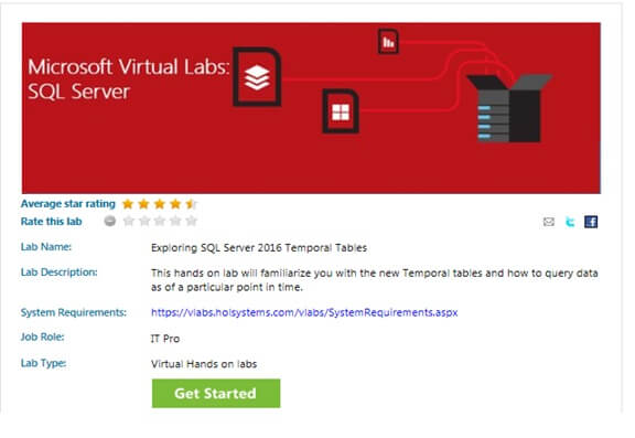 Exploring SQL Server 2016 Temporal Tables Virtual Lab
