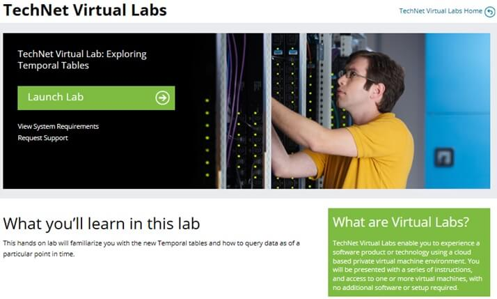 TechNet Virtual Labs Launch Lab
