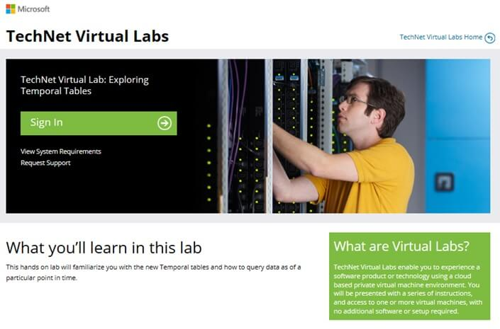 TechNet Virtual Labs Sign In