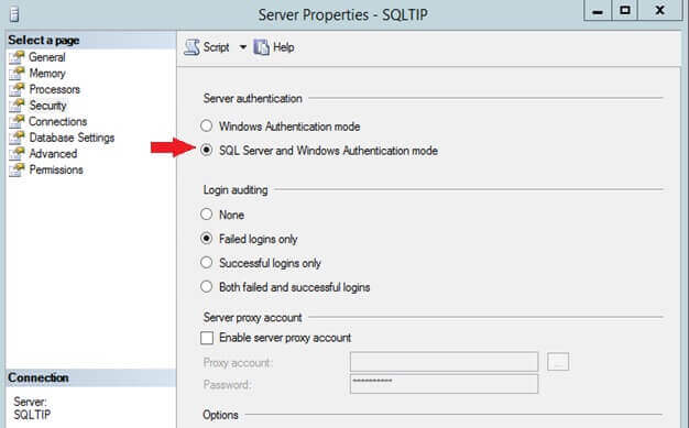 SQL Server Mixed Mode Authentication