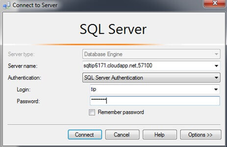 Connect Azure VM with SQL Server Management Studio Locally