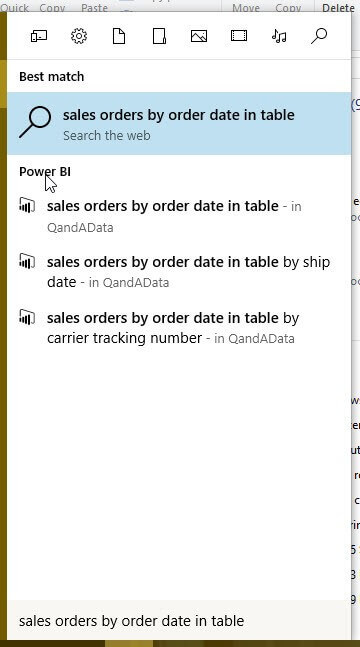 Sales Order Search