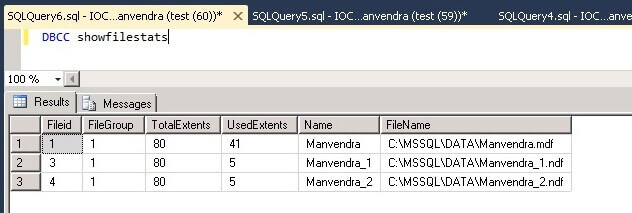 used extents post SQL Server data insert