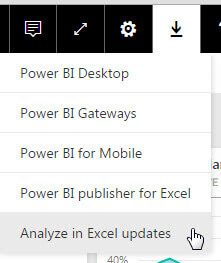 Analyze in Excel updates in Power BI