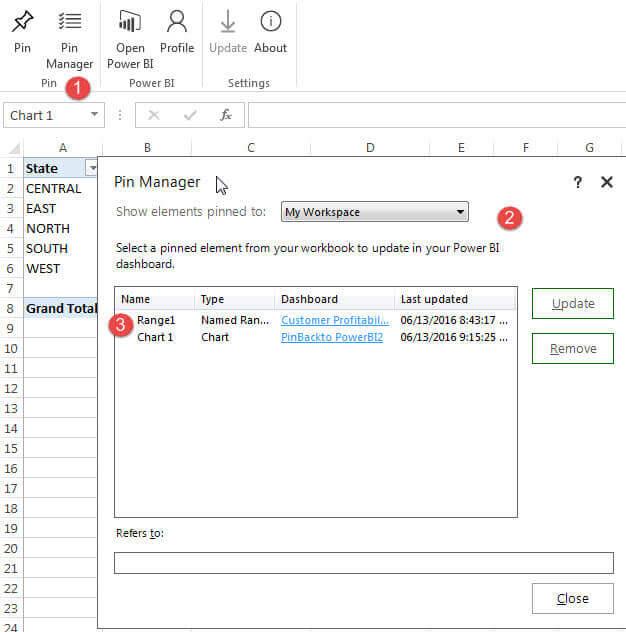 Analyzing Power BI data with Excel