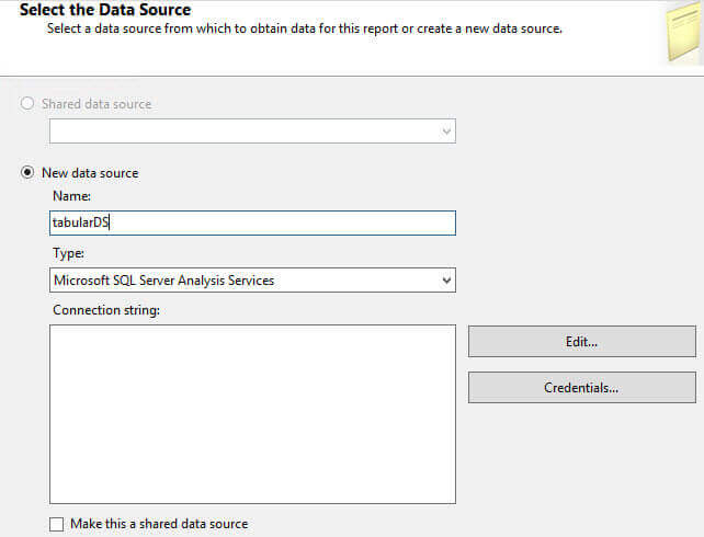 Create a SQL Server Reporting Services Report from an
