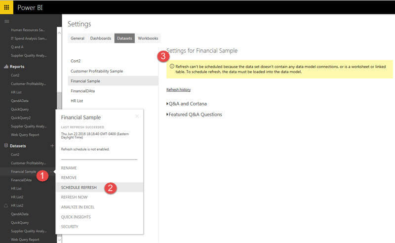Schedule an Automated Refresh in Power BI