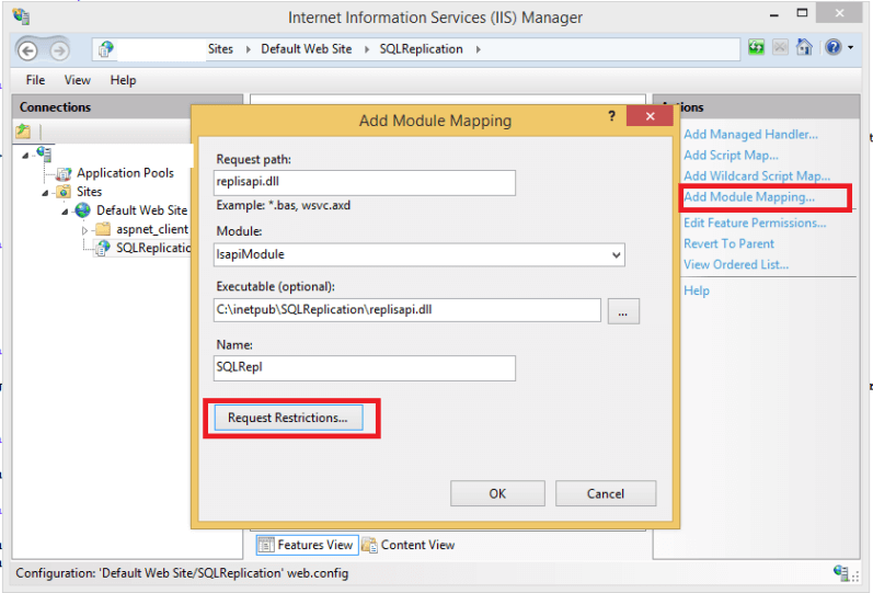 Configure SQL Server Merge Replication with Web Syncronization