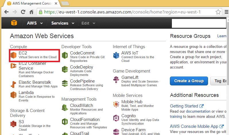 Launch SQL Server instances on AMAZON EC2