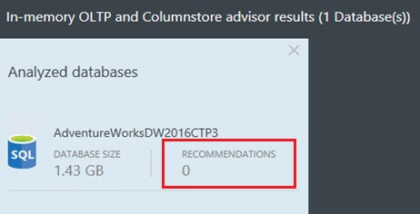 In-Memory OLTP and Column Store Advisor Results Without a Workload