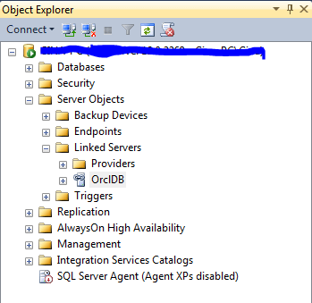 Creating a SQL Server 2014 Linked Server for an Oracle 11g