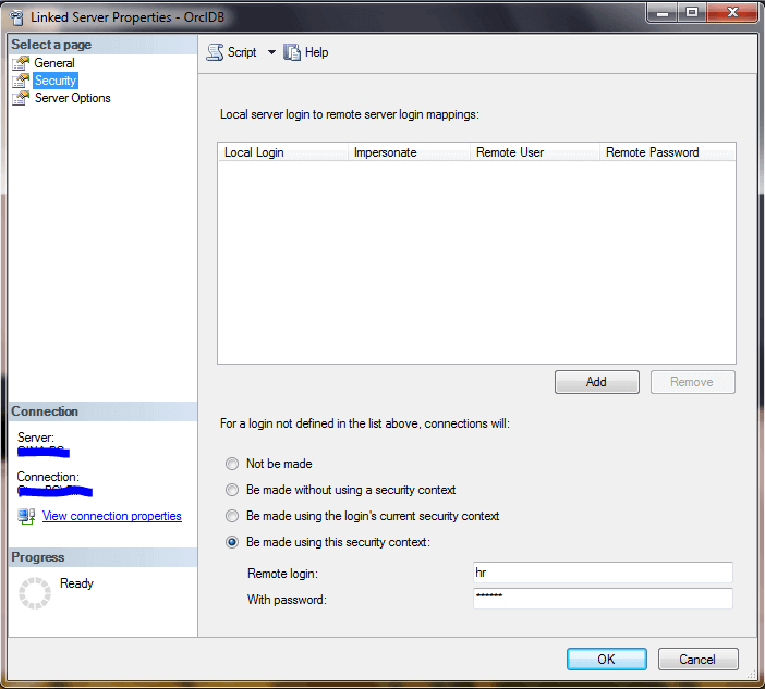 Creating a SQL Server 2014 Linked Server for an Oracle 11g Database