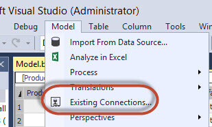 Select an existing connection to execute T-SQL code to migrate the data
