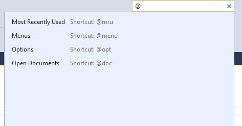 Shortcuts in SSMS Quick Launch