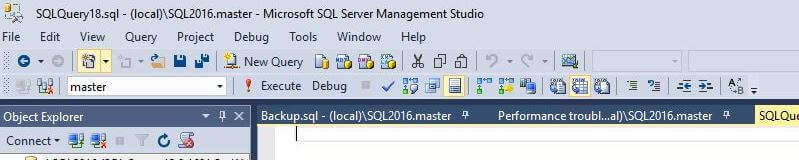 Pin Important Queries in SQL Server Management Studio