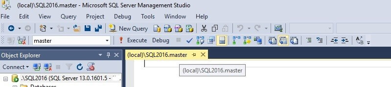 SQL Server Management Studio Tabs customization with the Instance and Database Name
