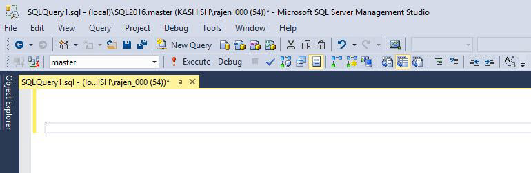 SQL Server 2016 Management Studio Enhancements