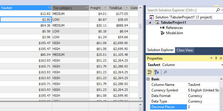 Formatting Column Display DAX Expression