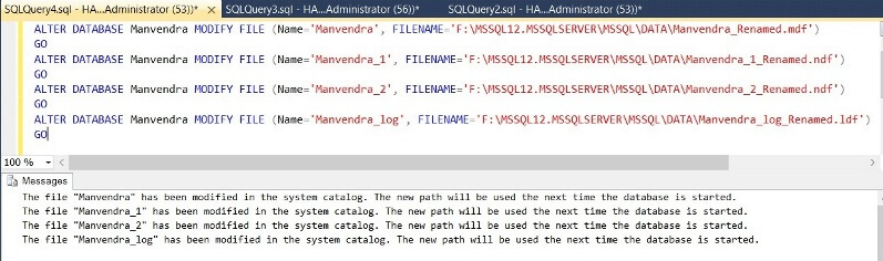 Run SQL Server T-SQL ALTER statements to update system catalog