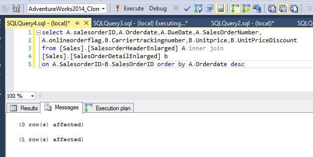 SQL Server Query Results