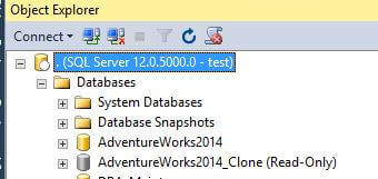 Cloned databases has been created in Databases folder of SQL Server Management Studio we can see that the database has been created and is in a 'Read Only' state