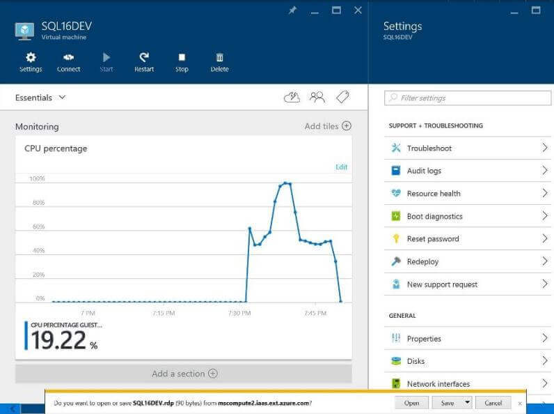 Setup an Azure Virtual Machine and Contoso Sample Database