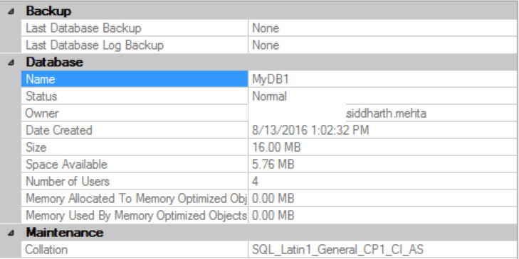 New Database with the default SQL Server collation
