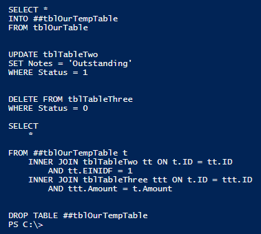 Review the output from the PowerShell script