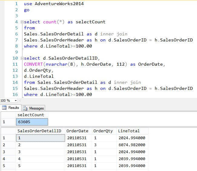 Load SQL Server T-SQL Query Results to Hadoop Using Sqoop
