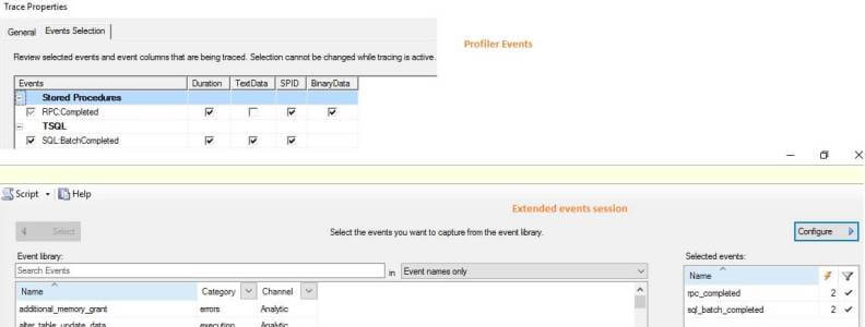 T-SQL_Duration Template in SQL Server Profiler and Extended Events