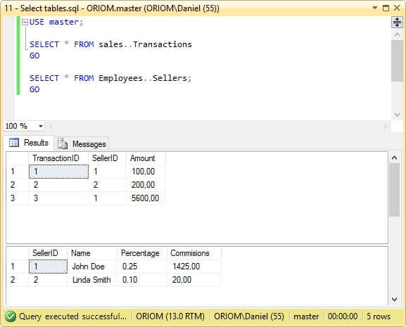 Both SQL Server databases restored with the marked transaction